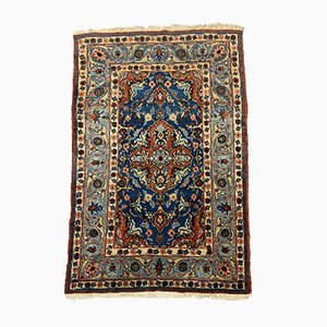Medium Vintage Oriental Navy Blue & Red Tribal Mahal Teppich