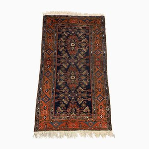 Medium Vintage Oriental Navy Blue & Red Tribal Malayer Rug