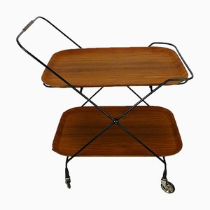 Mid-Century Modern Swedish Teak & Metal Serving Trolley from Jie Gantofta, 1960s