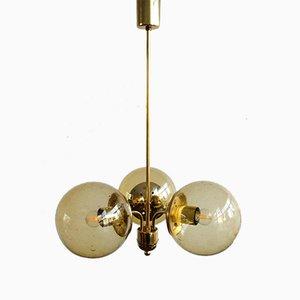 Lámpara de araña vintage de Kamenický Šenov, años 70