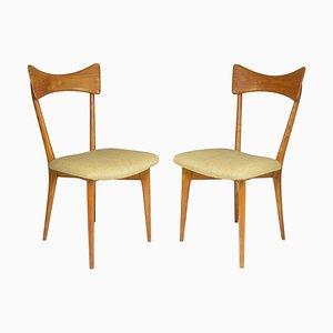 Italienische Stühle von Ico und Luisa Parisi für Ariberto Colombo, 1950er, 2er Set