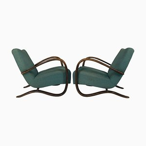 H 269 Art Deco Armchairs by Jindrich Halabala, from COR, 1940s, Set of 2