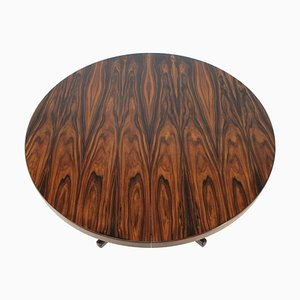 Round Palisander Extendable Dining Table, Denmark, 1960s