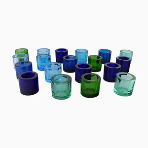 Iittala Candle Holders in Art Glass, 20th Century, Set of 19