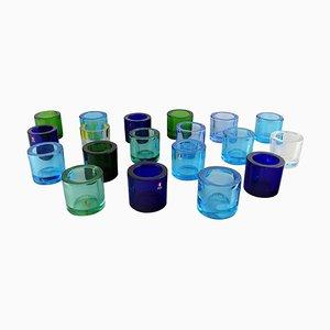 Iittala Kerzenhalter aus Kunstglas, 20. Jahrhundert, 19er Set