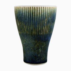 Vase In Glasierte Keramiken von Carl Harry Stålhane für Rörstrand, Mitte 20. Jahrhundert