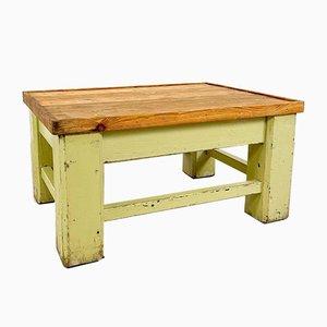 Industrieller Bemalter Holz Fabriktisch