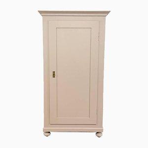 Antike Lackierte Kommode mit Einer Tür in Pastel Pink
