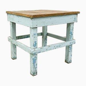 Mesa auxiliar industrial de madera pintada