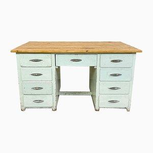 Industrieller Vintage Schreibtisch aus Lackiertem Holz