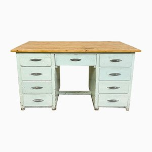 Vintage Industrial Painted Wooden Desk