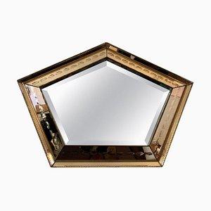 Pentagon Bronzed Wall Mirror by Linke, 1930s
