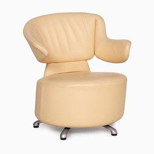 K06 Aki Biki Canta Cream Leather Armchair from Cassina