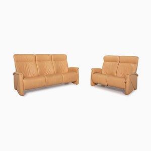Himolla Leather Sofa Set, Set of 2