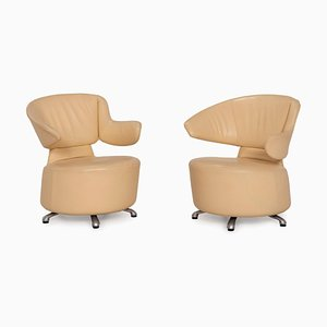 K06 Aki Biki Canta Leather Chairs from Cassina, Set of 2
