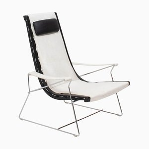 White Cowhide Leather Armchair by Antonio Citterio for B&B Italia, 2012