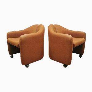 Italienische Mid-Century PS142 Sessel von Eugenio Gerli für Tecno, 2er Set