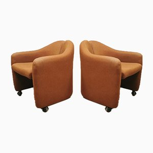 Mid-Century Italian PS142 Easy Chairs by Eugenio Gerli for Tecno, Set of 2