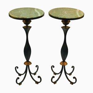 Tavolini di Gilbert Poillerat, Francia, anni '40, set di 2