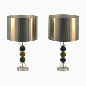 Large Table Lamps by Nancy Still for Raak, 1970s, Set of 2