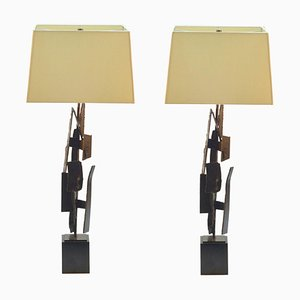 Table Lamps by Harry Balmer in Oxidized Steel, Set of 2