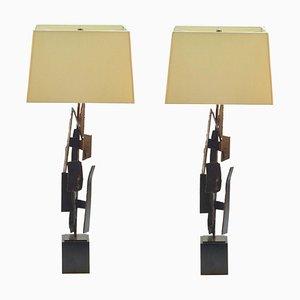 Tischlampen von Harry Balmer aus Oxidiertem Stahl, 2er Set
