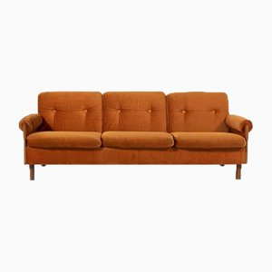 Three Seats Velvet Sofa from Asko, Finland, 1960