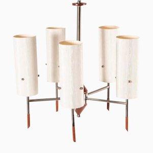 Architektonische skandinavische Deckenlampe, 1960er