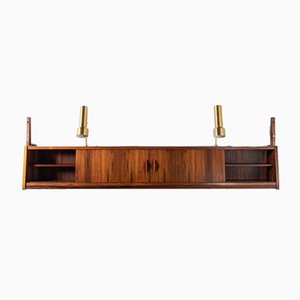 Danish Floating Wall Cabinet in Rosewood, 1960s