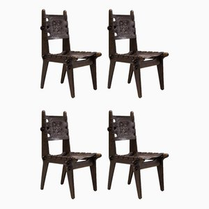 Dining Chairs by Angel Isaac Pazmino Muebles de Estillo Ecuadorian, Set of 4