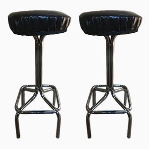Chrome Bar Stools, 1950s, Set of 2