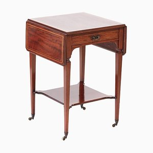 Antique Edwardian Inlaid Mahogany Occasional / Lamp Table