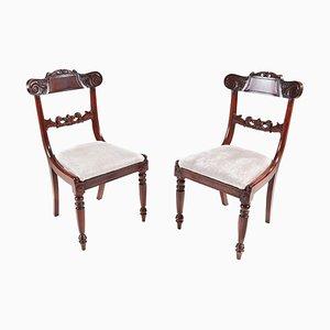 Antike William IV Beistellstühle aus Mahagoni, 2er Set