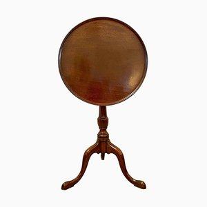 19th Century George III Mahogany Dish Top Tripod Table