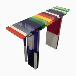 Colorful Console Table by Charly Bounan for Interna