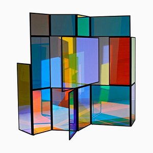 Paravent Pliant Coloré Dichroïque par Camilla Richter