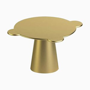 Gold Lackierter Holz Donald Tisch von Chapel Petrassi für Design M
