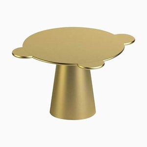 Tavolo Donald in legno laccato oro di Chapel Petrassi per Design M