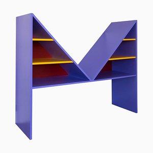 Violett lackierter Bikini Bücherschrank aus Holz von Chapel Petrassi für Design M