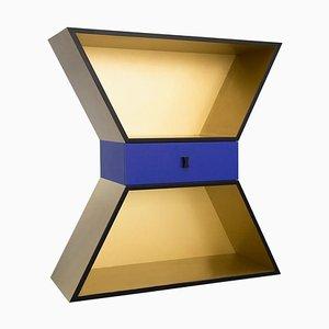 Apollon Schrank aus goldfarben lackiertem Holz von Chapel Petrassi für Design M