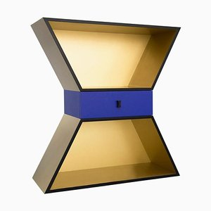 Gold Lacquered Wood Apollon Cabinet by Chapel Petrassi for Design M