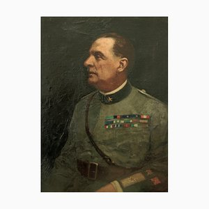 Francesco Bencivenga, Portrait of General Roberto Bencivenga, Oil Painting, 1933