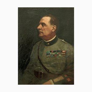 Tableau Francesco Bencivenga, Portrait du Général Roberto Bencivenga, Peinture à l'Huile, 1933