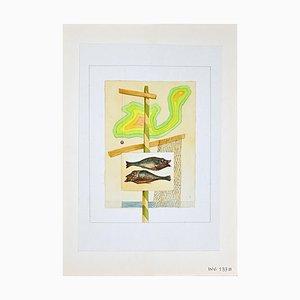 Leo Guida, Les Poissons, Aquarell, 1970er