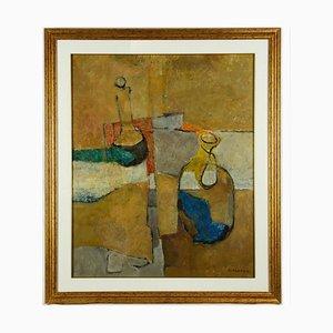 Mario Asnago, Stillleben, Öl auf Leinwand, 1968