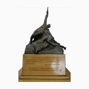 Piero Da Verona, Monumento a los Caballeros, Escultura de bronce, 1922