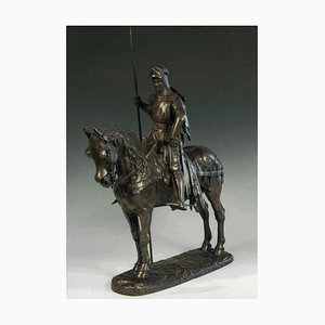 Emmanuel Frémiet, Louis d'Orléans, Bronze Skulptur, 1870er