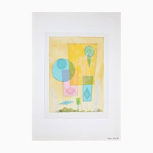 Leo Guida, Abstract Composition, Watercolor, 1970s