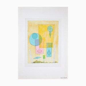 Leo Guida, Abstrakte Komposition, Aquarell, 1970er