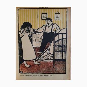 Félix Vallotton, Crimes Et Chatiments, Vintage Rare Book, 1902